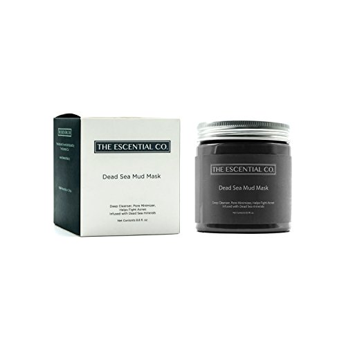 The Escential Co. Totes Meer Maske 250g – Schlamm Gesichtsmaske & Anti-Aging-Maske, Pflege für trockene, fettige & unreine Haut für Damen & Herren – natürliche Reinigung gegen Pickel, Mitesser, Akne –