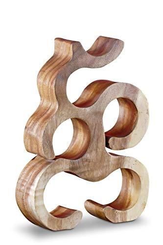 Kinaree 40 cm Holz Weinregal für 6 Flaschen aus Akazie (Suar) Massivholz Natur