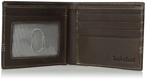 Timberland Men s Leather Slimfold Wallet with Matching Fob Gift Set  Brown  One Size