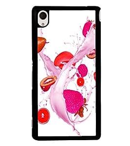 printtech Fruits Splash Back Case Cover for Sony Xperia M4 Aqua::Sony Xperia M4 Aqua Dual