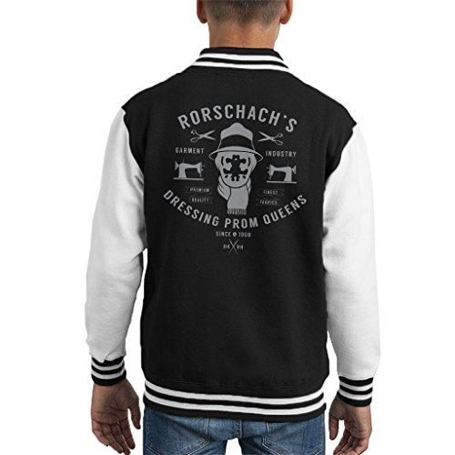 (Cloud City 7 Watchmen Rorschach Garment Company Kid's Varsity Jacket)