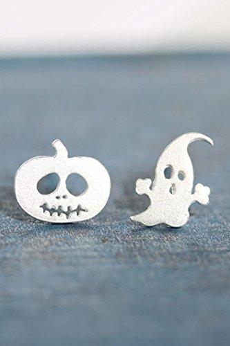 Einzigartige Kreative S925 Silber süße Halloween Geist Kürbis Geist Ohrringe Ohrringe Ohrhänger Ohrhänger Ohrhänger Ohrhänger Frauen Mädchen Hypoallergen Student