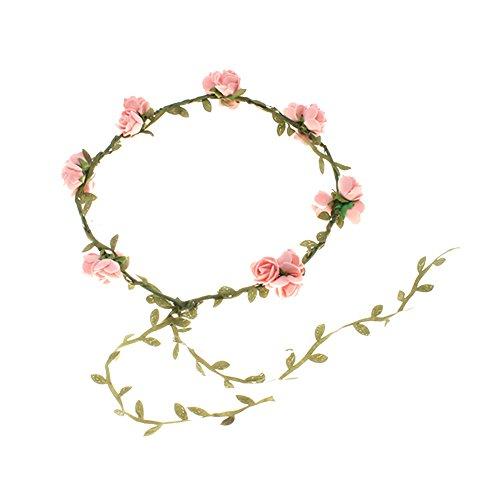 Blumenstirnband Kopfband Kranz von Rosen Braut Brautjungfer Haarschmuck Blumen (2# pink)