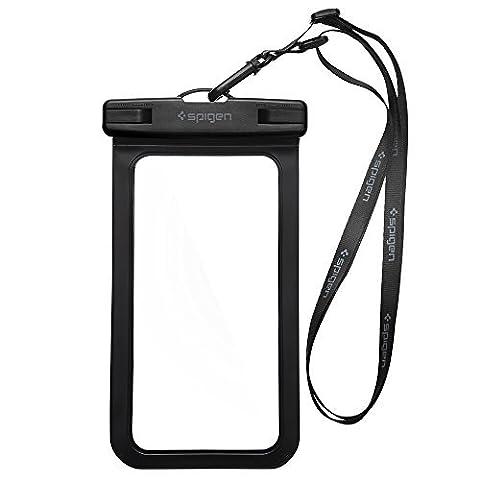 Housse Étanche, Spigen® Velo [Certifiée IPX8] Coque Etanche, Pochette étanche, Etui Etanche pour Apple iPhone 8/8 Plus/7/7 Plus/6/6S/6 Plus/SE/5S, Galaxy J5/A3/A5/S8/S8 Plus/S7/S7 Edge/S6/S6 Edge/Note 8/ Note 4, Huawei P8/P8 Lite/P9/P9 Lite Smartphones - A600 Black