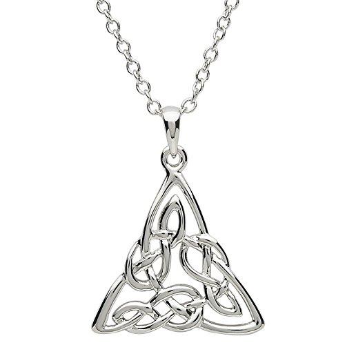 shanore Platin vergoldet keltisches Design Anhänger Halskette für - Schmuck Womens Celtic