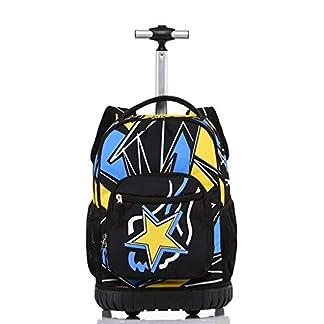 ZLVWB Mochila for portátil con Ruedas Trolley de Mano con Ruedas Mochilas Escolares Equipaje de Viaje