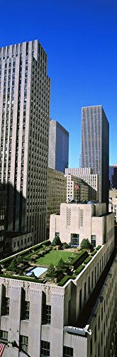 The Poster Corp Panoramic Images - Skyscrapers in a City Roof Garden Rockefeller Center Manhattan New York City New York State USA Photo Print (91,44 x 30,48 cm)