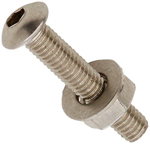 Button Head Stainless Steel Rivet (AHC a2socbtn316b25M3x 16mm A2Edelstahl Sockel Button Schrauben inkl. Muttern und Unterlegscheiben (Blister 25Stück))