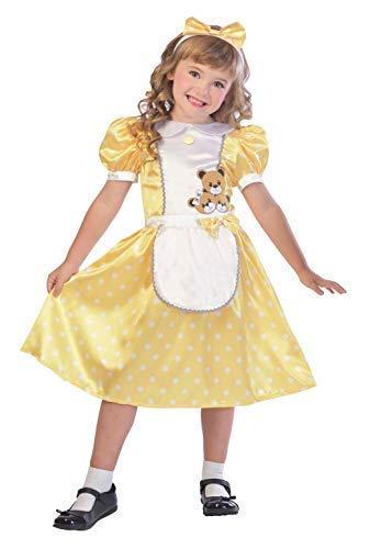 Fancy Me Mädchen Hübsch Traditionell Goldlöckchen Kindergarten Geschichtenbuch Welttag des Buches-Tage-Woche Kostüm Kleid Outfit 5-10 Jahre - 7-8 Years (Kinder Goldlöckchen Kostüm)