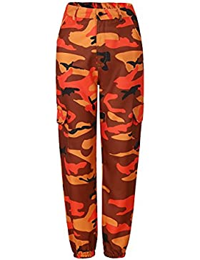 Yacun Mujeres Pantalones Casuales Pantalones De Camuflaje Imprimir Tobillo Longitud