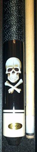 """Billardqueue Original \""""Black Death\"""" inkl. Queuekoffer Standard und Ersatzledern"""