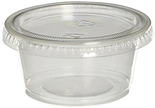 pijs040200Souffle Cups mit Deckel,-/Bratenspritze, transluzent, 40er (Jello Shot)