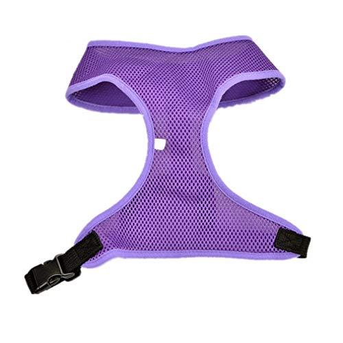 1 STÜCK Einstellbare Haustier Nylon Mesh Weste Hundehalsband Brustgurt Leine Geschirre Für Hunde Katzen XS~XL Available Purple L -