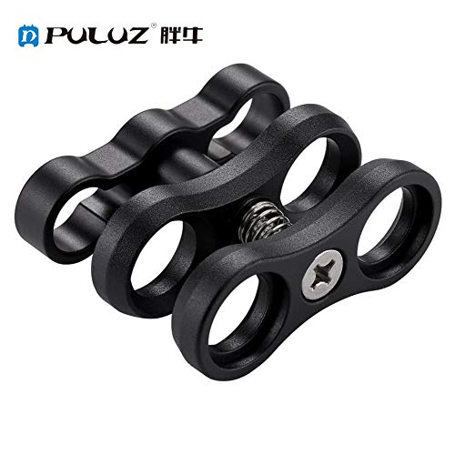 ARDUTE PULUZ Aluminum Alloy Clamp Clip Adapter for Underwater Light Arm System Strobe Assembly