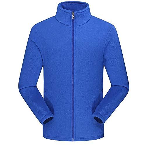 Fleecejacke Stehkragen Top (Fleecejacke Unisex SummerRio Sweatjacke Stehkragen mit Reißverschluss und Tasche Fleece Sweatshirt Top für Männer und Frauen)