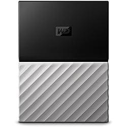 WD My Passport Ultra Disque dur externe portable 2To avec sauvegarde automatique pour PC, Xbox One et PlayStation 4 - Noir/Argenté