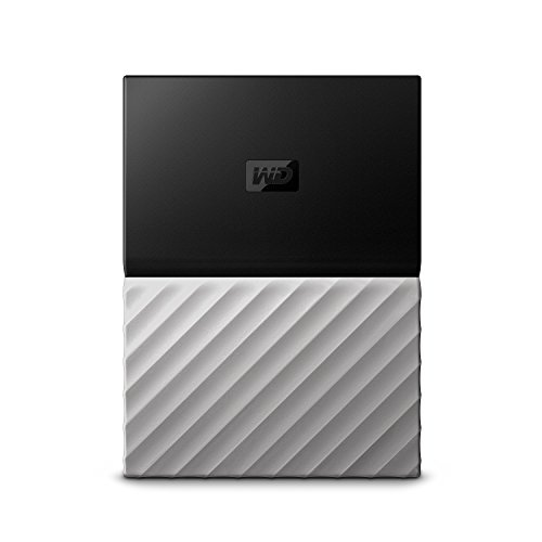 Western Digital My Passport - Disco Duro portátil y Software de Copia de Seguridad automática para PC, Xbox One y Playstation 4, Acabado metálico, Negro/Gris
