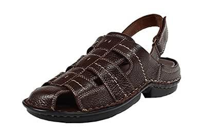 Fusiano Men Stylish Genuine Leather Sandal (Brown)_Size-UK 6
