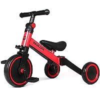 Kiwicool 3 in 1 Kids Tricycles for 1.5-4 Years Old Kids Trike 3 Wheel Bike Boys Girls 3 Wheels Toddler Tricycles (Red)