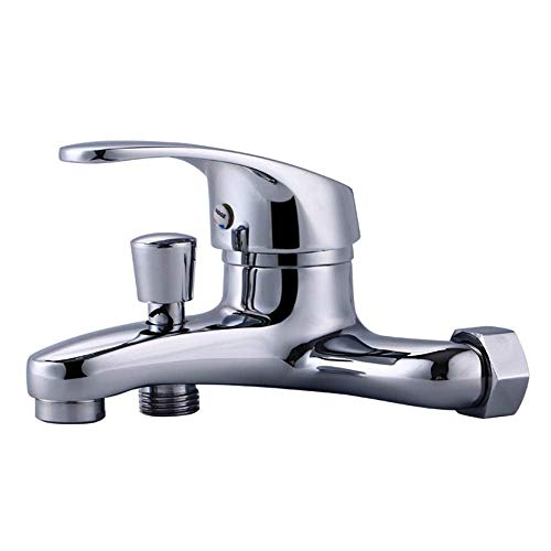 Full Copper Wall Cold And Hot Bathtub Water Mixing Valve Bathroom Double Water Control Faucet B39 -