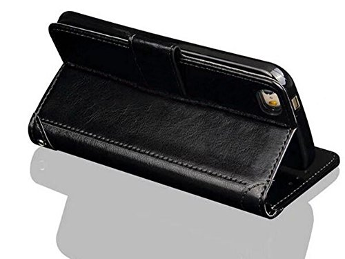 Nnopbeclik® [Coque Iphone SE antichoc / Coque Iphone 5S silicone / Coque Iphone 5 Apple] Wallet/Portefeuille en Bonne Qualité PU Cuir Housse pour Iphone 5 Coque anti choc / Iphone 5S Coque silicone /  noir