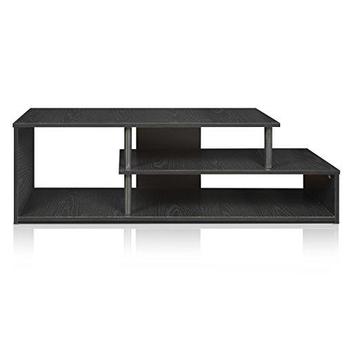 Furinno Laptoptisch 15044bw/BK ECON Low Rise TV-Ständer, Blackwood