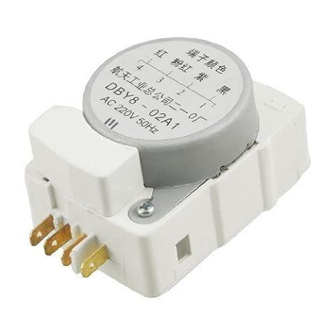 sourcingmap® AC 220V 50Hz DBY8 02A1 4 Terminals Réfrigérateur Minuterie