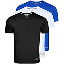 AWG - All Weather Gear Men's Polyester T-Shirt (Pack Of 3) (Ss18_Awgdft-Bl-Wh-Rb)