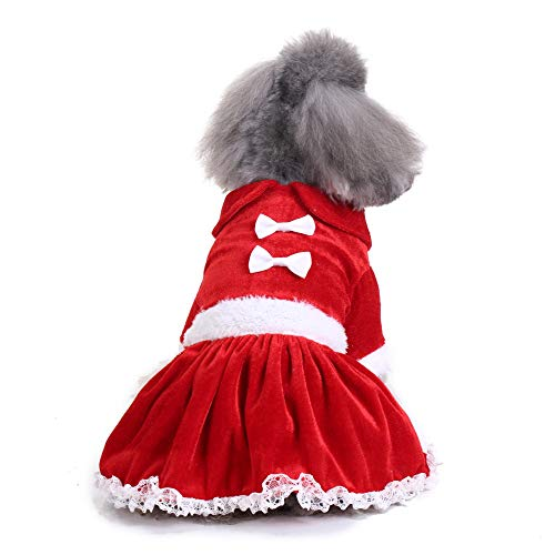 (Dragon868 Hund Pullover Niedliche Weihnachtsmode Comfortable Pet Clothes Festival Kleid Rock)