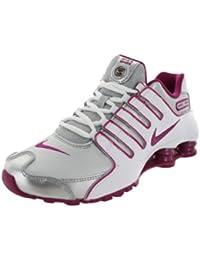 54ba9cd2dcdcb Nike Women s Shox NZ EU Mtllc Silver Bright MGNT White Running Shoe 7.5  Women