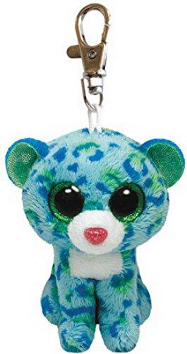 Clip - Leopard Leona, blau/grün, ca. 8,5cm, 1 Stück
