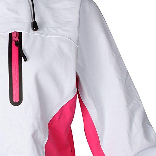 Cox Swain Damen 3 Lagen Titanium Funktions/Hardshelljacke Kabru 8.000 Wassersäule 5.000 Atmungsakt, Colour: White/Pink, Size: XS - 4