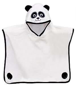 Grand Panda Poncho-White velours