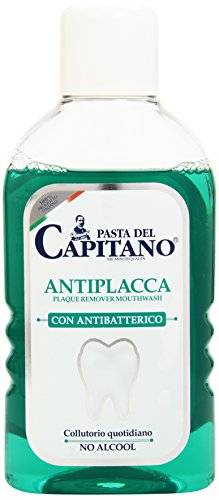 Pasta del Capitano - Antiplacca, Collutorio Quotidiano con Antibatterico, No Alcool , 400 ml