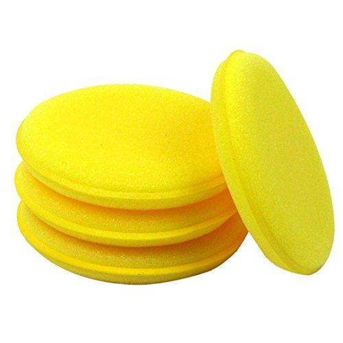 6-x-rund-Wachs-Schwmme-Anwendung-Pad-Auto-Valet-Polish-Waxing-Reinigung-Bike-Wash