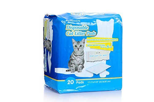 all-absorb-20-count-cat-litter-pads-171-by-118-inch