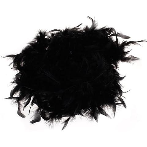 Negro Bufanda De Plumas Boa Suave Y Sedoso Mullido Decoracion De Arte 6.6 Feet