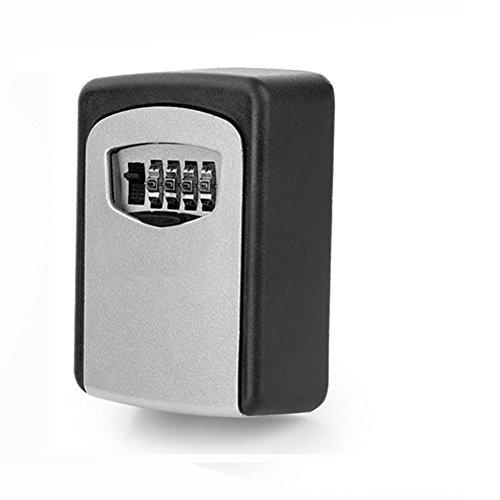 Ultra-Large-Kapazität Key-Lock-Box Safe, HomeYoo Mini-Safe-und Schlüssel-Management-System, wetterfeste Wand-Kombinations-Code Key Storage Cabinet für Ersatzschlüssel starke Sicherheit und außen teilen (Large: 90*65*30mm, Schwarz) (Storage Key Lock-boxen)