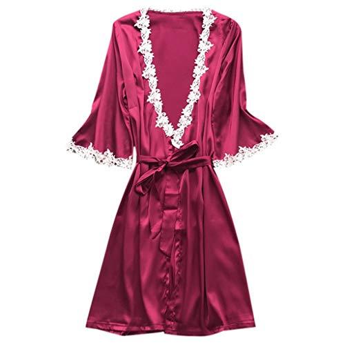 ABsoar Lingeries Damen Dessous Frauen Nachtwäsche Hübsch Lange Seide Kimono Morgenmantel Babydoll Bath Robe Unterwäsche Set Unterwäsche Lingerie Frauen Spitzenkleid - Shirley Of Hollywood Rock