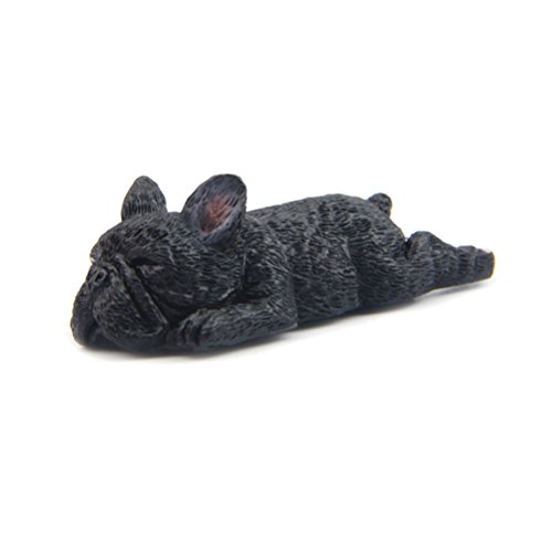 Bestonzon 3D French Bulldog cute Sleeping Dog magnete frigorifero lavagna magneti per ufficio casa decorazione (marrone scuro), Nero