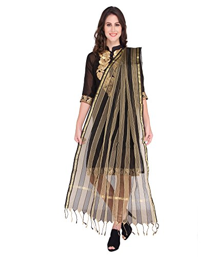 Gold Striped Dupatta