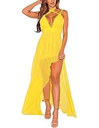 brand new 0f622 d49a1 Amazon.it: vestito schiena scoperta - Giallo / Vestiti ...
