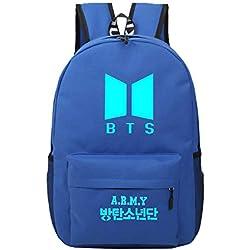 aimdonr K de Pop BTS Mochila, bangtan Boys Cielo estrellado Bombilla bolsa escolar, Casual Daypack, Laptop bolsillos , koreanischer Trend Mochila