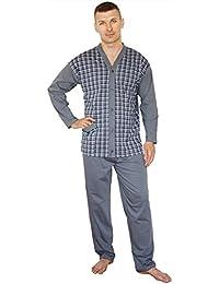 BigSize Pijamas para Hombres Pijamas 100% Algodón Ropa de Noche Tallas Grandes 3XL 4XL 5XL