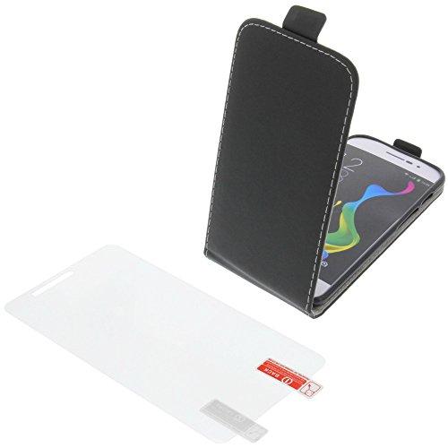 Tasche für coolpad Porto S Smartphone Flipstyle Schutz Hülle schwarz + Schutzfolie