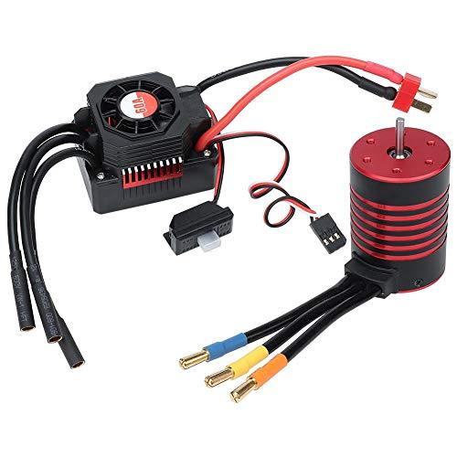 idalinya Brushless Motor Rc Elektromotoren Gtskytenrc 3650 Brushless 5200kv Motor + 60a wasserdichte Esc Für 1/10 Rc Auto - Rc-brushless-elektromotoren