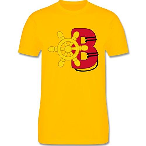 Anfangsbuchstaben - B Schifffahrt - Herren Premium T-Shirt Gelb