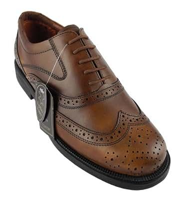 Chaussures en cuir de brogue britannique classique Homme brun 14