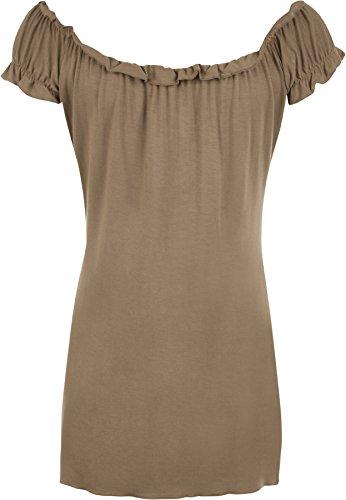 WearAll - Tunique extensible à manches courtes - Hauts - Femmes - Grandes tailles 40 à 58 Moka