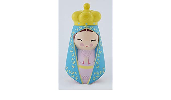 """4.25/"""" Collectible Vinyl Figurine Shining Light Our Lady of Charity of Cuba Doll"""